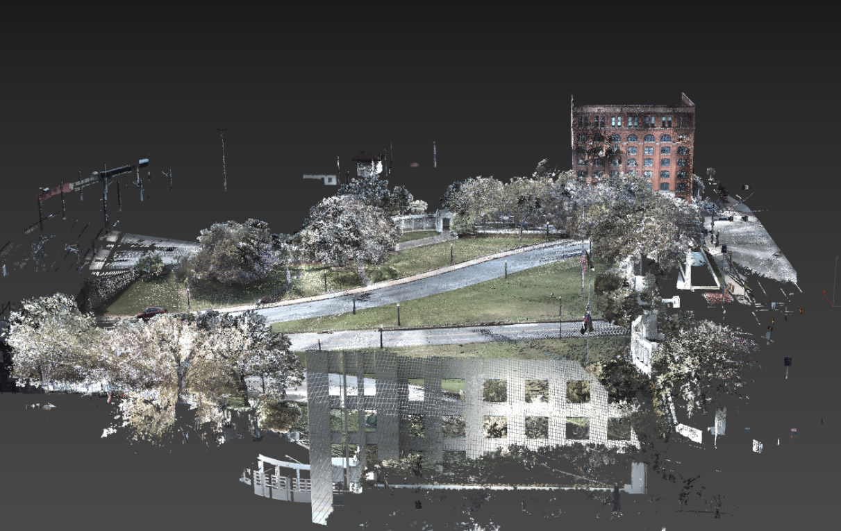 A LIDAR point cloud scan